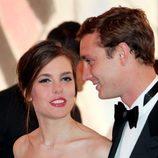 Carlota Casiraghi y su hermano Pierre en el Baile de la Rosa de Mónaco 2014
