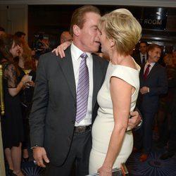 Arnold Schwarzenegger y Emma Thompson en los Premios Empire 2014