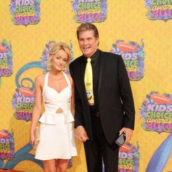 David Hasselhoff y Hayley Roberts en los Kids Choice Awards 2014