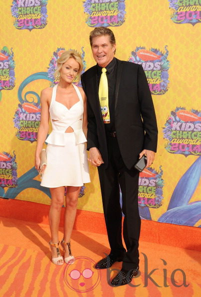 David Hasselhoff y Hayley Roberts en los Kids Choice Awards 2014