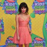 Lea Michelle en la alfombra naranja de los Kids Choice Awards 2014
