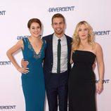 Shailene Woodley, Theo James y Kate Winslet en la premiere de 'Divergente' en Londres