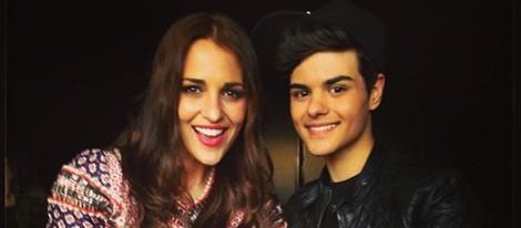 Paula Echevarría con Abraham Mateo en su concierto en el Teatro Circo Price de Madrid