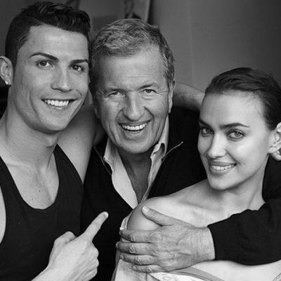 Cristiano Ronaldo e Irina Shayk con Mario Testino para Vogue España