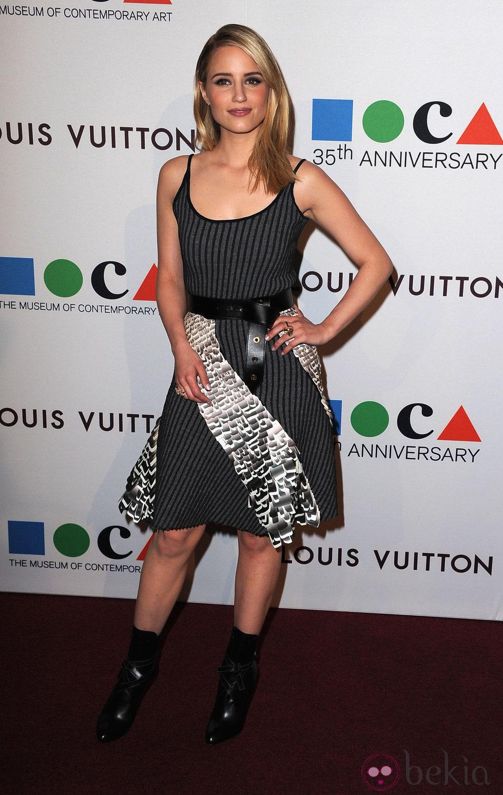 Dianna Agron en la fiesta del 35 aniversario del MOCA de Los Angeles