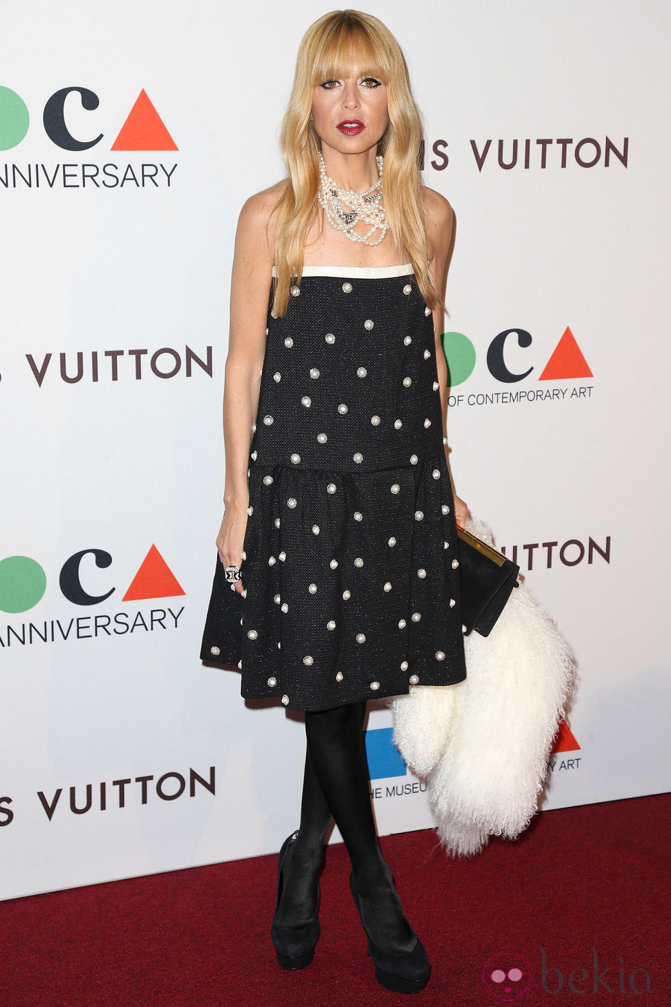 Rachel Zoe en la fiesta del 35 aniversario del MOCA de Los Angeles