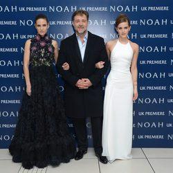 Jennifer Connely, Russel Crowe y Emma Watson en la premiere de 'Noé' en Londres