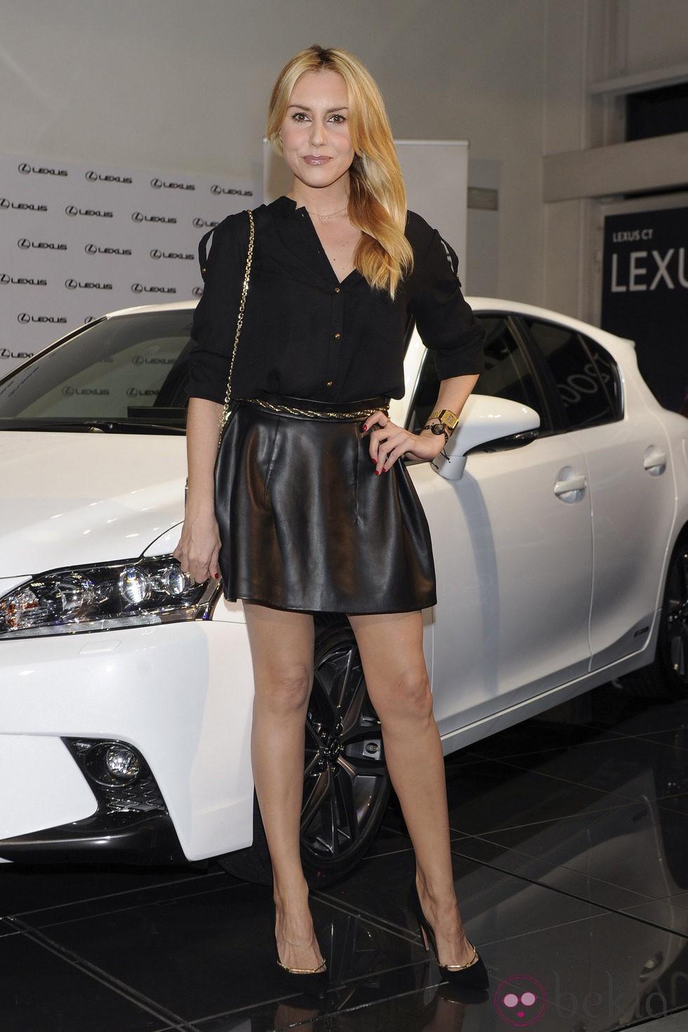 Berta Collado en la presentación de un nuevo modelo de coche