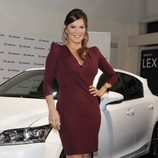 Ivonne Reyes en la presentación de un nuevo modelo de coche