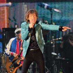 Mick Jagger durante uno de los conciertos de los Rolling Stones en Singapur