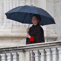 La Reina Sofía preside el Cambio de Guardia en el Palacio Real