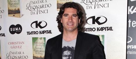 Toño Sanchís en la presentación del libro 'Matar a Leonardo da Vinci'