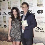 Christian Gálvez con Almudena Cid en la presentación de su libro 'Matar a Leonardo da Vinci'
