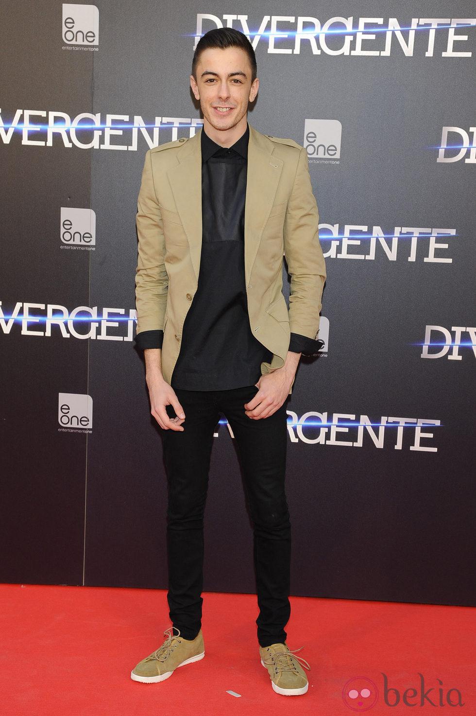 Víctor Palmero en el estreno de 'Divergente' en Madrid