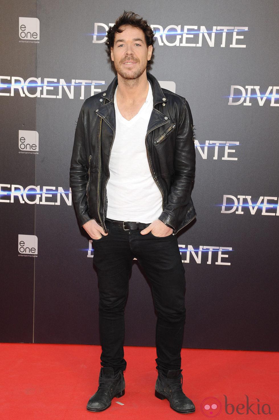 David Feito en el estreno de 'Divergente' en Madrid
