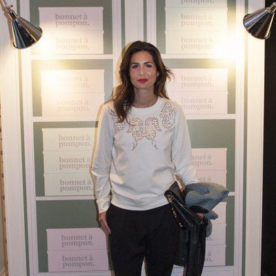 Nuria Roca en la inauguración de una tienda Bonnet à Pompon en Madrid