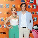 Soraya Arnelas y Miguel Herrera en el estreno de 'Rio 2' en Madrid