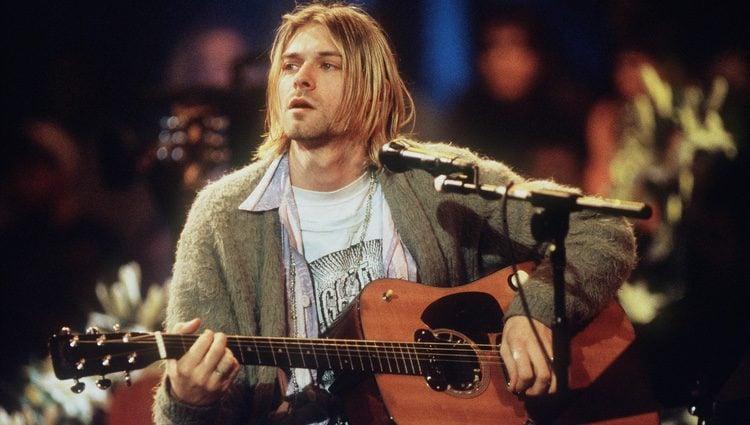 Kurt Cobain en el MTV Unplugged de Nirvana en 1993
