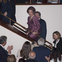 La Reina Sofía acude a un concierto solidario en el Auditorio Nacional de Madrid