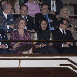 La Reina Sofía en un concierto benéfico a favor de los niños de Siria
