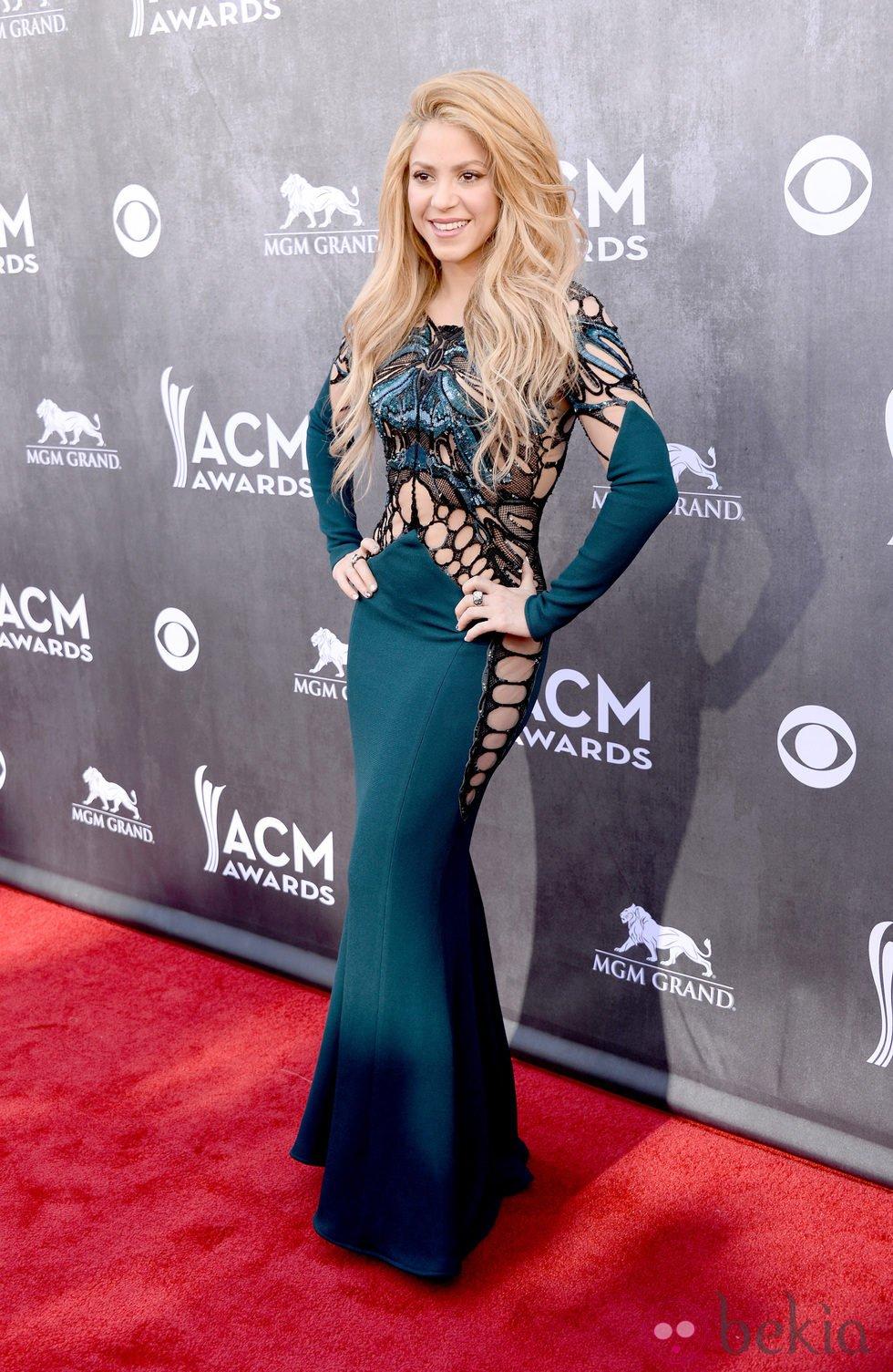 Shakira en la alfombra roja de los CMA 2014 Premios