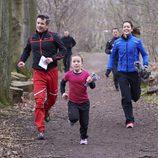 Federico, Mary e Isabel de Dinamarca corriendo en Find Your Way Day