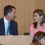 Los Príncipes Felipe y Letizia en la inauguración de la nueva sede de Puig