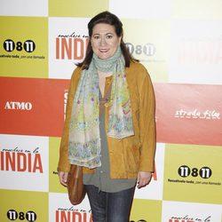 Luisa Martín en el estreno de 'Anochece en La India'