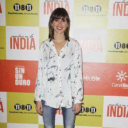Marina San José en el estreno de 'Anochece en La India'