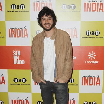 Javier Pereira en el estreno de 'Anochece en La India'