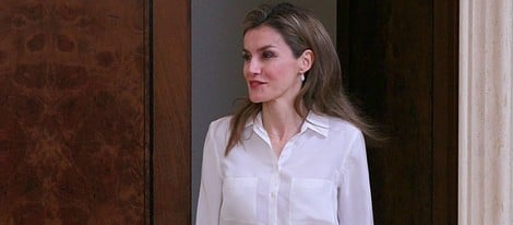 La Princesa Letizia en una audiencia a la Fundación Síndrome de Down Madrid