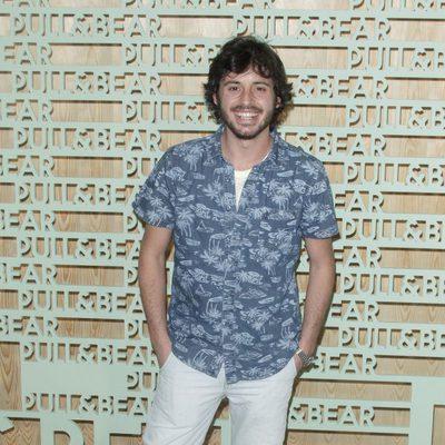 Javier Pereira en una fiesta Pull&Bear para presentar el Open de Madrid 2014