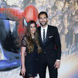 Diego López con su mujer Iria Otero en el estreno de 'The Amazing Spider-Man 2' en Madrid