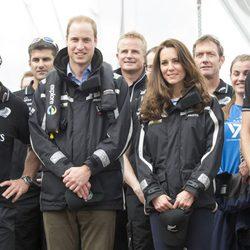 Los Duques de Cambridge, dos marineros en Auckland