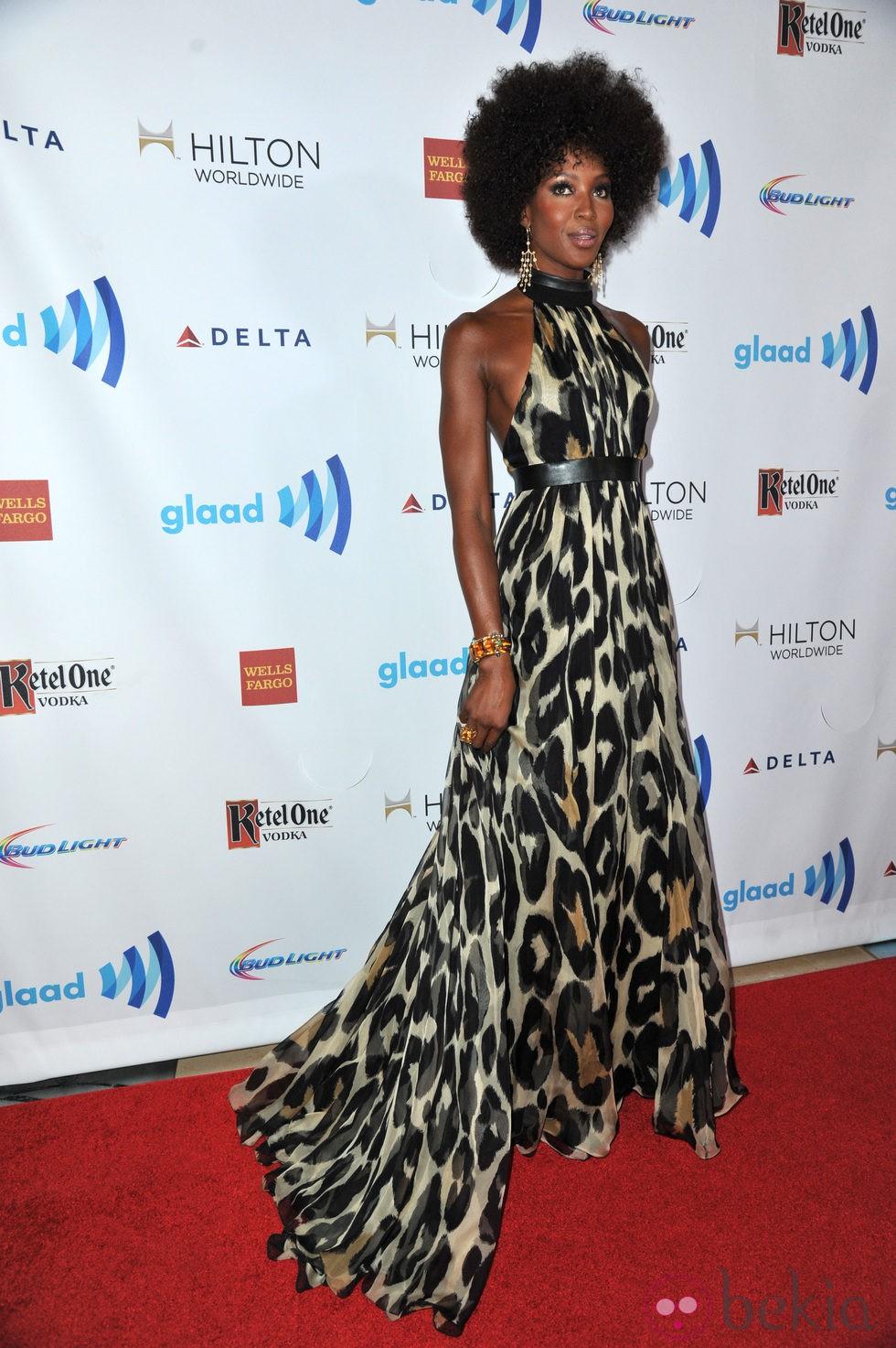 Naomi Campbell en los Premios GLAAD 2014