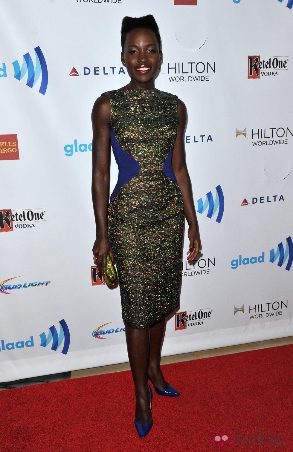Lupita Nyong'o en los Premios GLAAD 2014