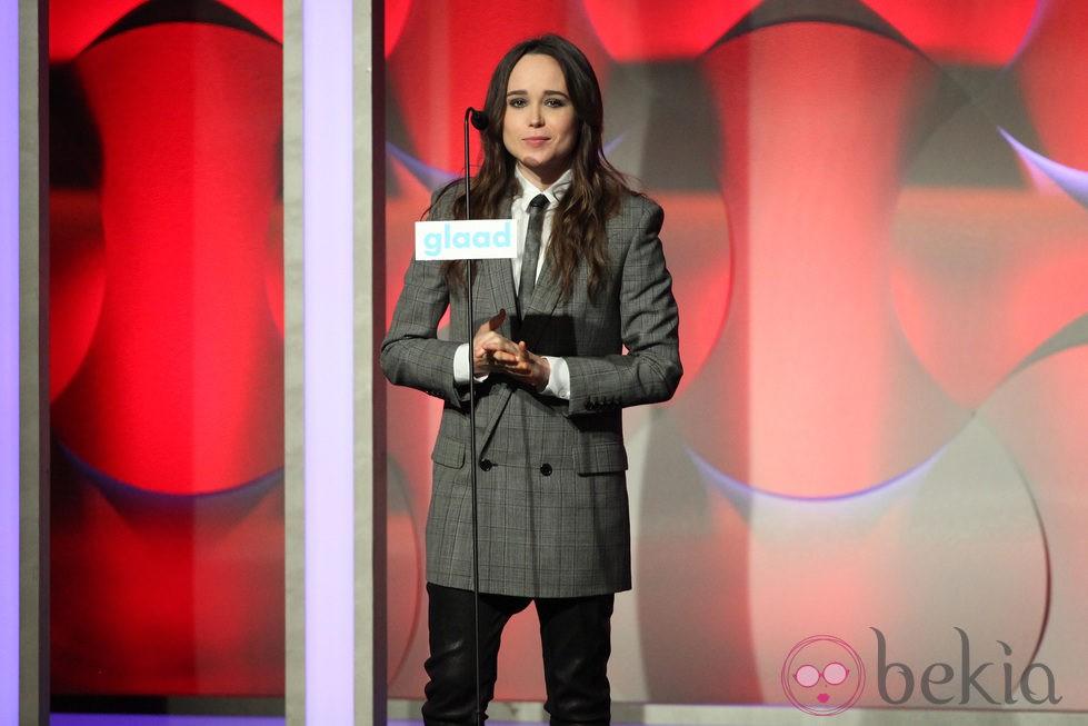 Ellen Page en los Premios GLAAD 2014