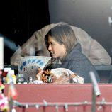 Jennifer Aniston durante el rodaje de la película 'Cake'