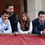 Chabelita Pantoja y Alberto Isla ven las procesiones de Semana Santa con amigos