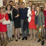 Terelu Campos, Antonio Banderas, María Barranco, María Teresa Campos y Susana Díaz en la Semana Santa de Málaga