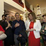 Antonio Banderas en la Semana Santa de Málaga con Terelu y María Teresa Campos, María Barranco y Susana Díaz