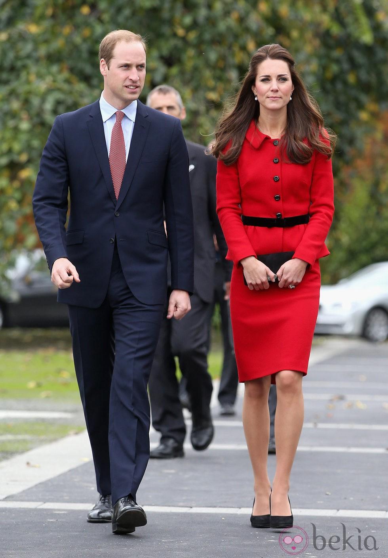 El Príncipe Guillermo y Kate Middleton en Christchurch