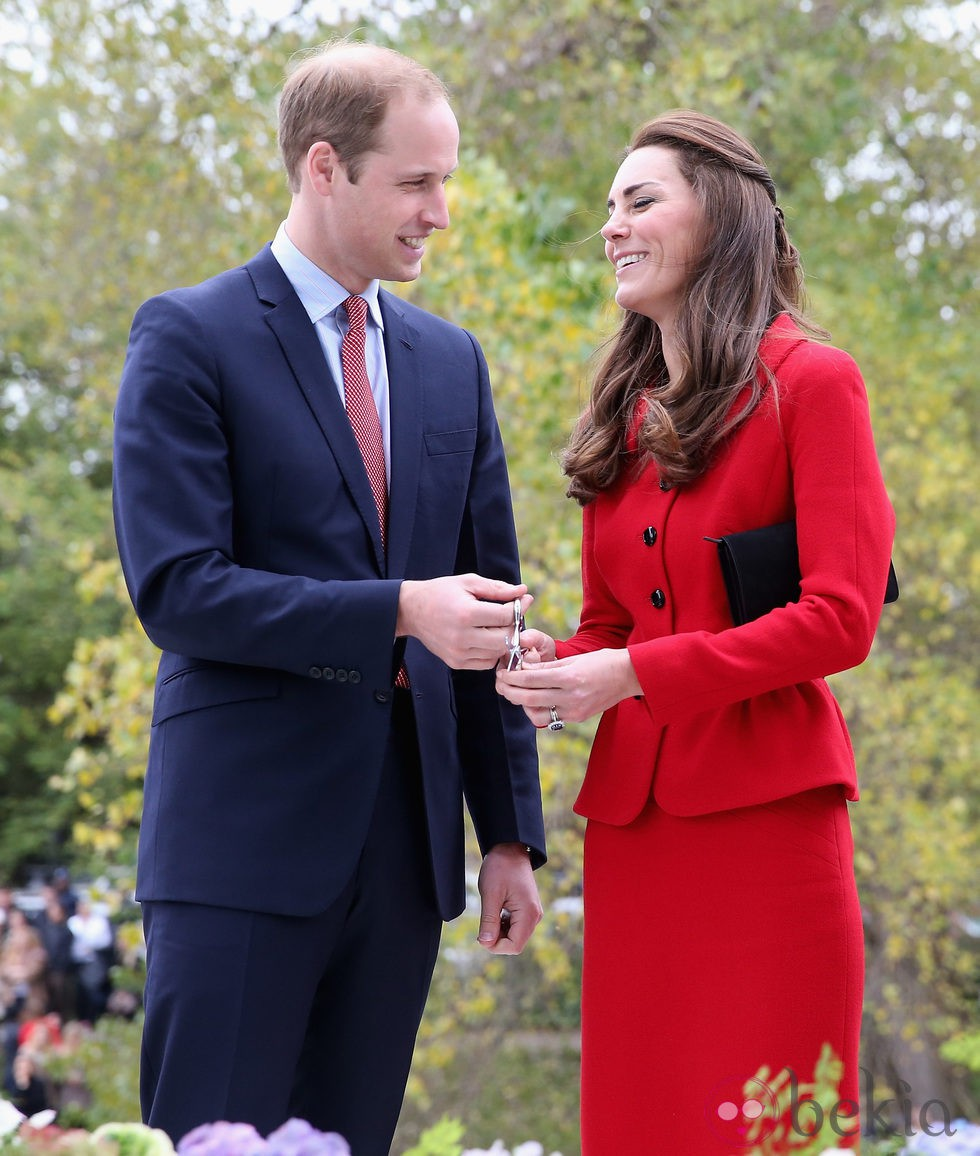 Los Duques de Cambridge, muy enamorados en Nueva Zelanda