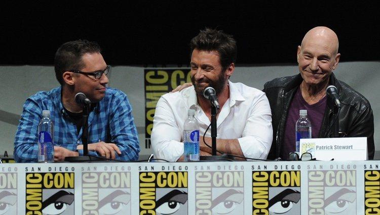 Bryan Singer, Hugh Jackman y Patrick Stewart en la Comic-On