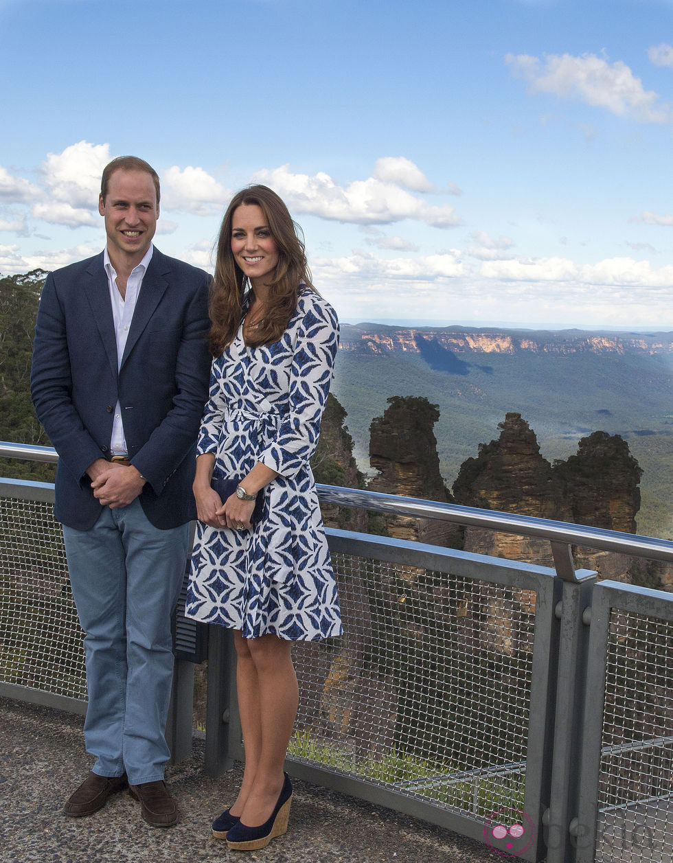 El Príncipe Guillermo y Kate Middleton con las Three Sisters