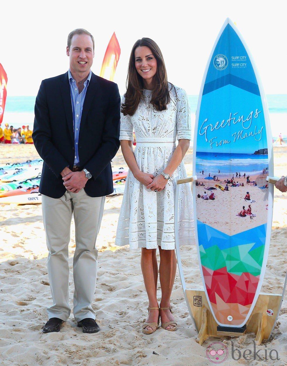 El Príncipe Guillermo y Kate Middleton en Manly