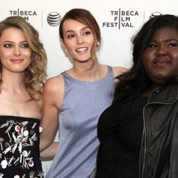 Gillian Jacobs, Leighton Meester y Gabourey Sidibe en la presentación de 'Life Partners' en el Festival de Tribeca 2014
