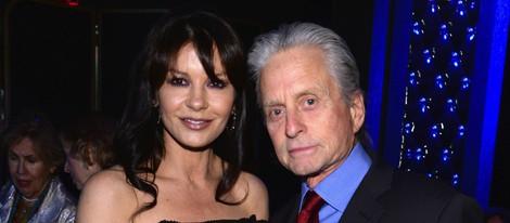 Michael Douglas y Catherine Zeta Jones en los Premios Monte Cristo 2014