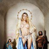 María Lapiedra convertida en un paso de Semana Santa