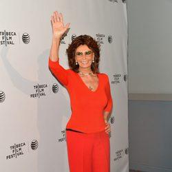 Sofia Loren acude al Festival de Cine Tribeca 2014